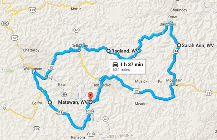 Explore Matewan on map of md, map of raleigh county west virginia, map of ohio, map of tx, map of pennsylvania, map of wi, map projection, map of virginia with cities, map of ky, map of west virginia cities, map of west virginia only, map of wy, map of tennessee, map of west virginia and virginia together, map of ct, map of nc, map of wvu, map of west virginia mountains, map of elkins west virginia, map of va,